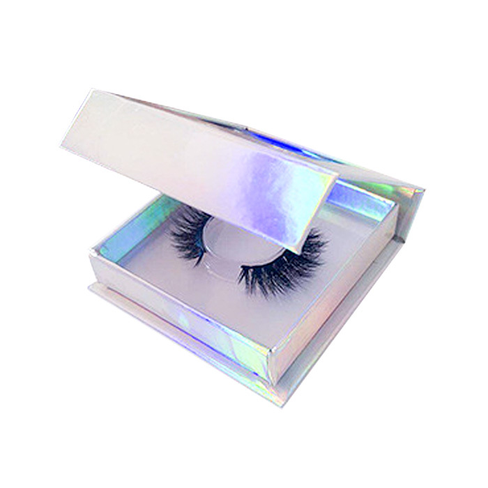 Wholesale square holographic custom packaging boxes for eyelashes