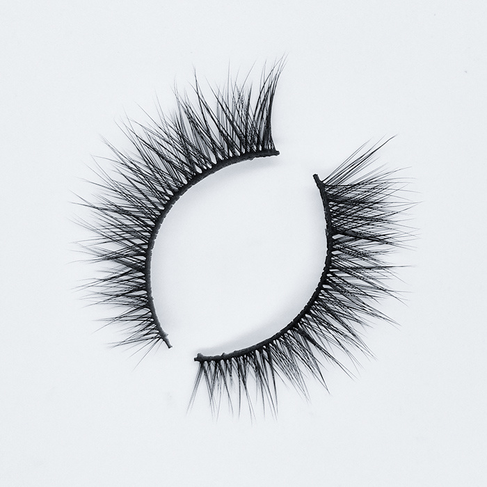 Hot-selling lashes false eyelashes clear band fake eyelashes synthetic lashes