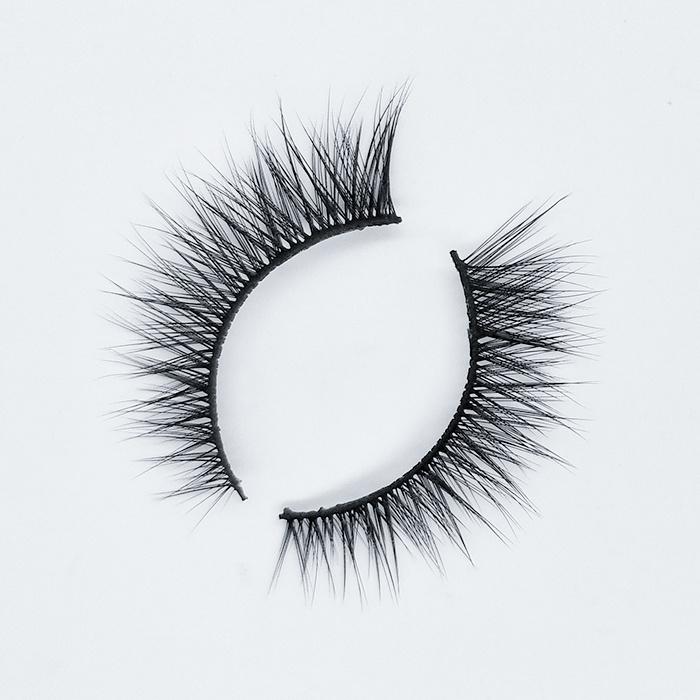 Hot-selling lashes false eyelashes clear band fake eyelashes synthetic lashes