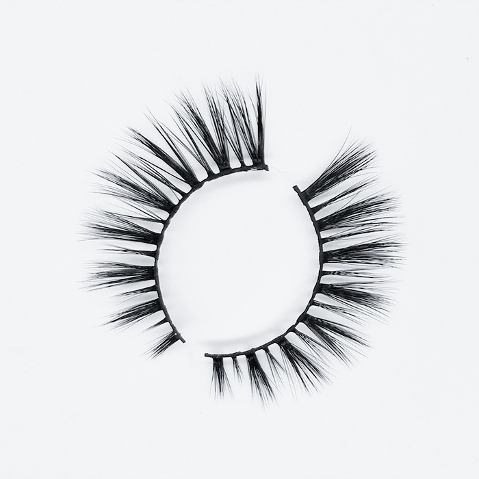 Luxury makeup super natural false fiber lashes strip 3d synthetic eyelashes