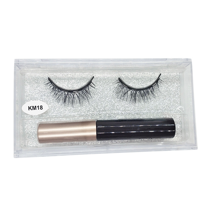Wholesale 3d magnetic false private label magnetic eyeliner and lashes