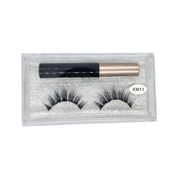 Magnetic false eyelashes vendor custom lash packaging magnetic eyeliner lashes