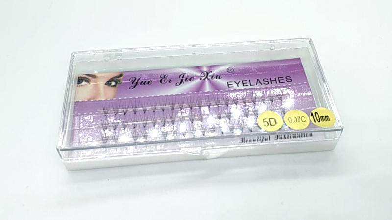 5D 10mm Individual lashes, thickness is 0.07mm