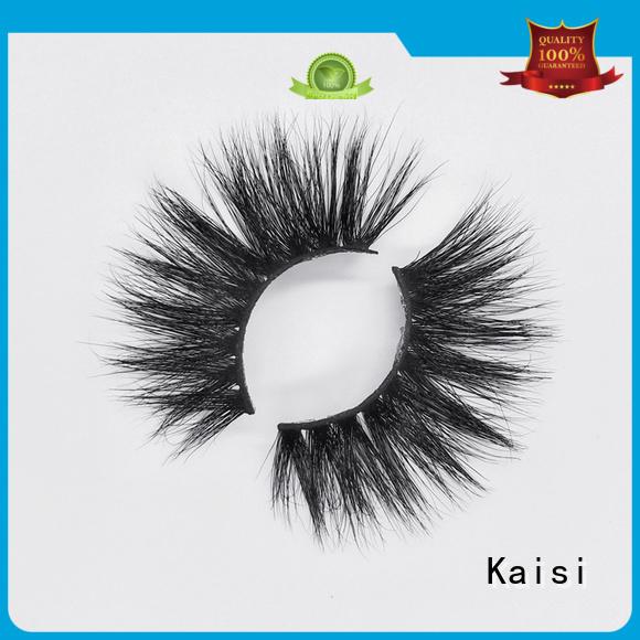 Kaisi favorable price 3d mink lashes wholesale custom