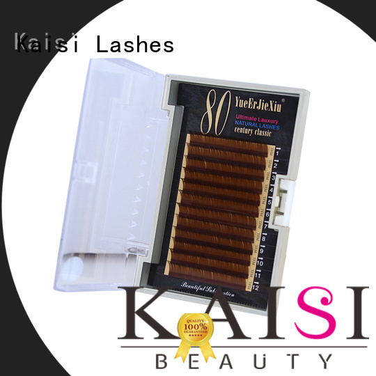 Kaisi natural looking eyelash extensions top brand at best factory price