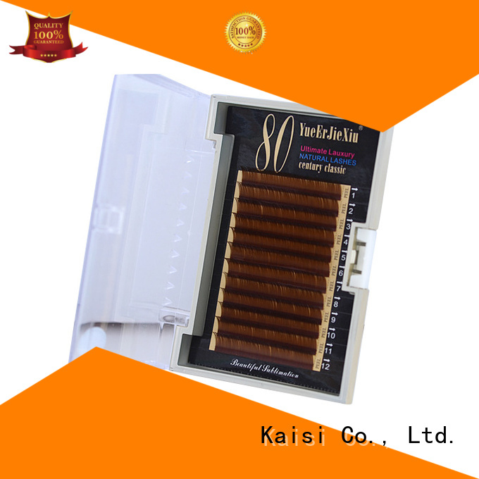 Kaisi latest natural looking eyelash extensions girl for wholesale