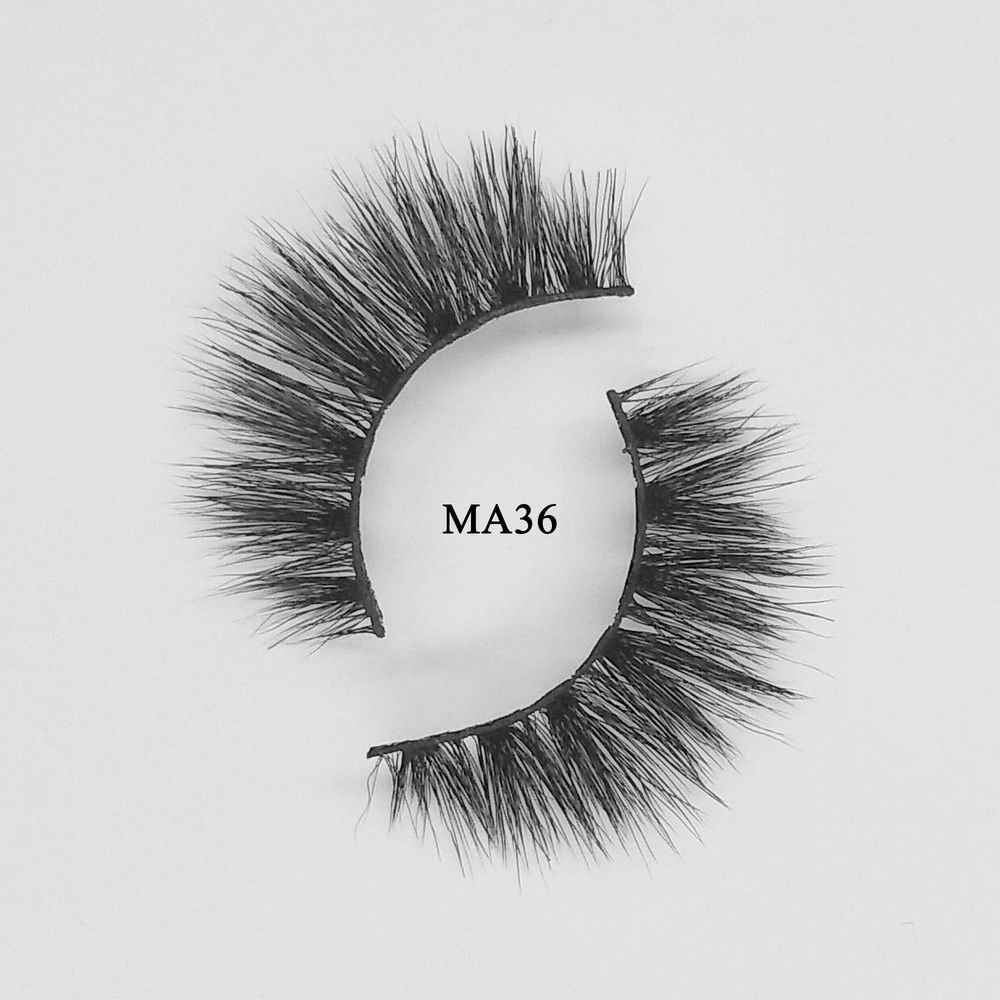 cheap and best 3d faux mink natural eyelashes with custom packaging box