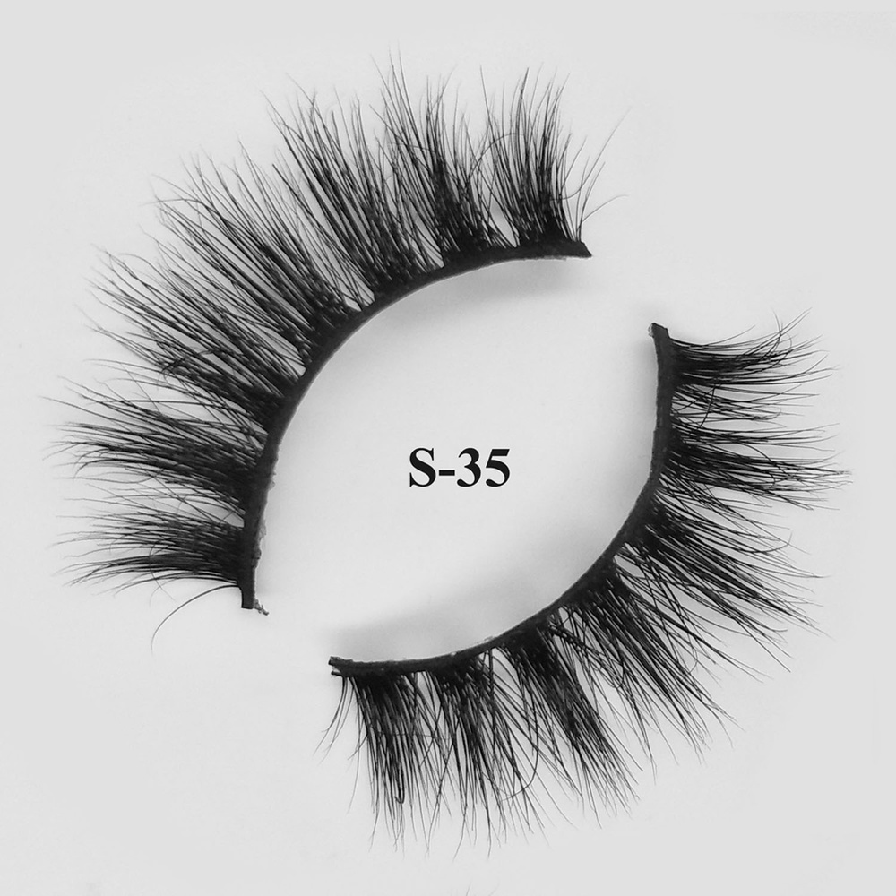 Make up 3D Mink Eyelashes Fake Eye Lashes With Private Label Packaging Box S-35