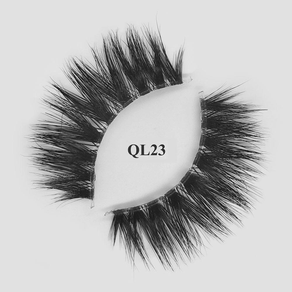 Custom packaging real mink fur private label best fake eyelashes for beginners QL23