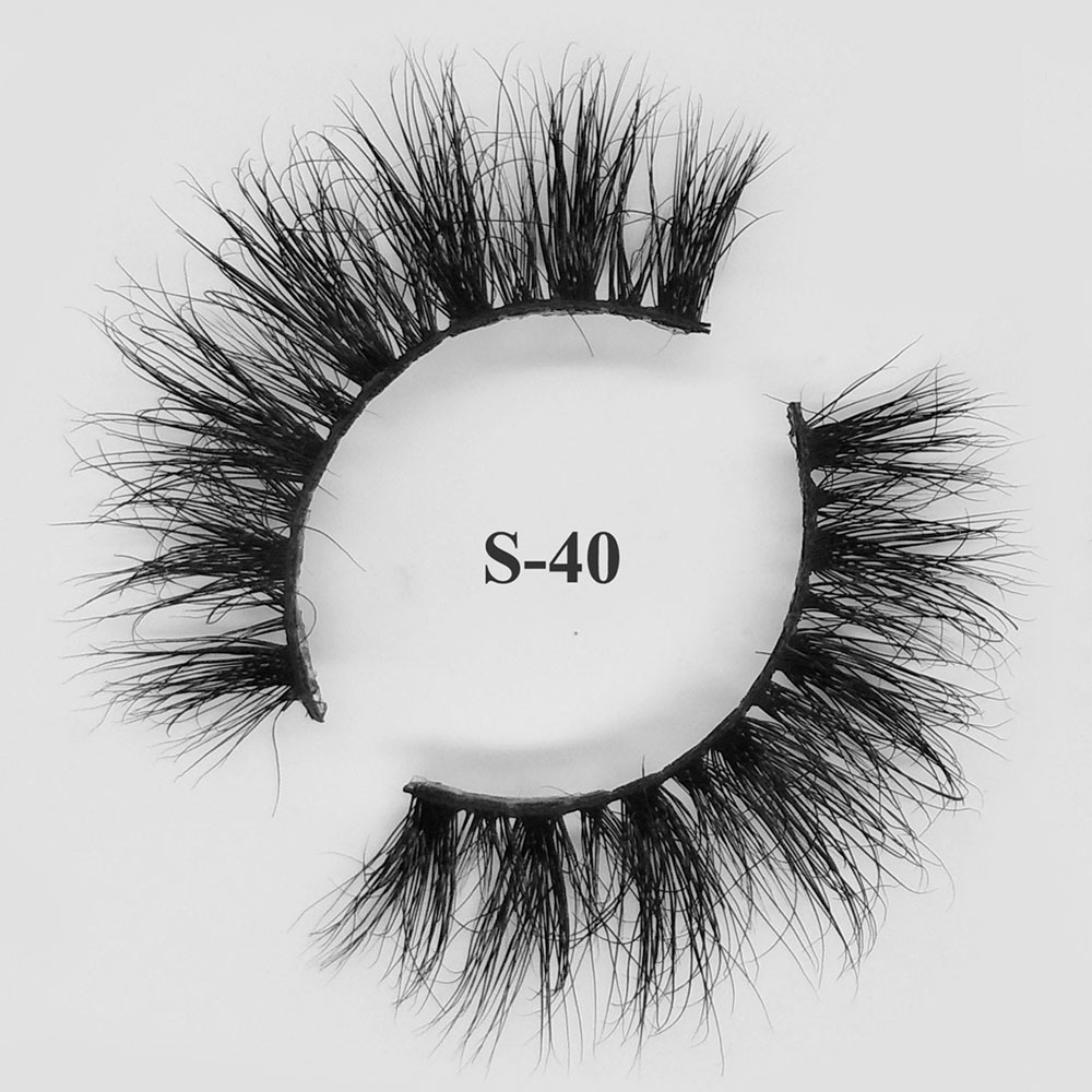 private label mink eyelashes cheap 3d mink lashes S-40