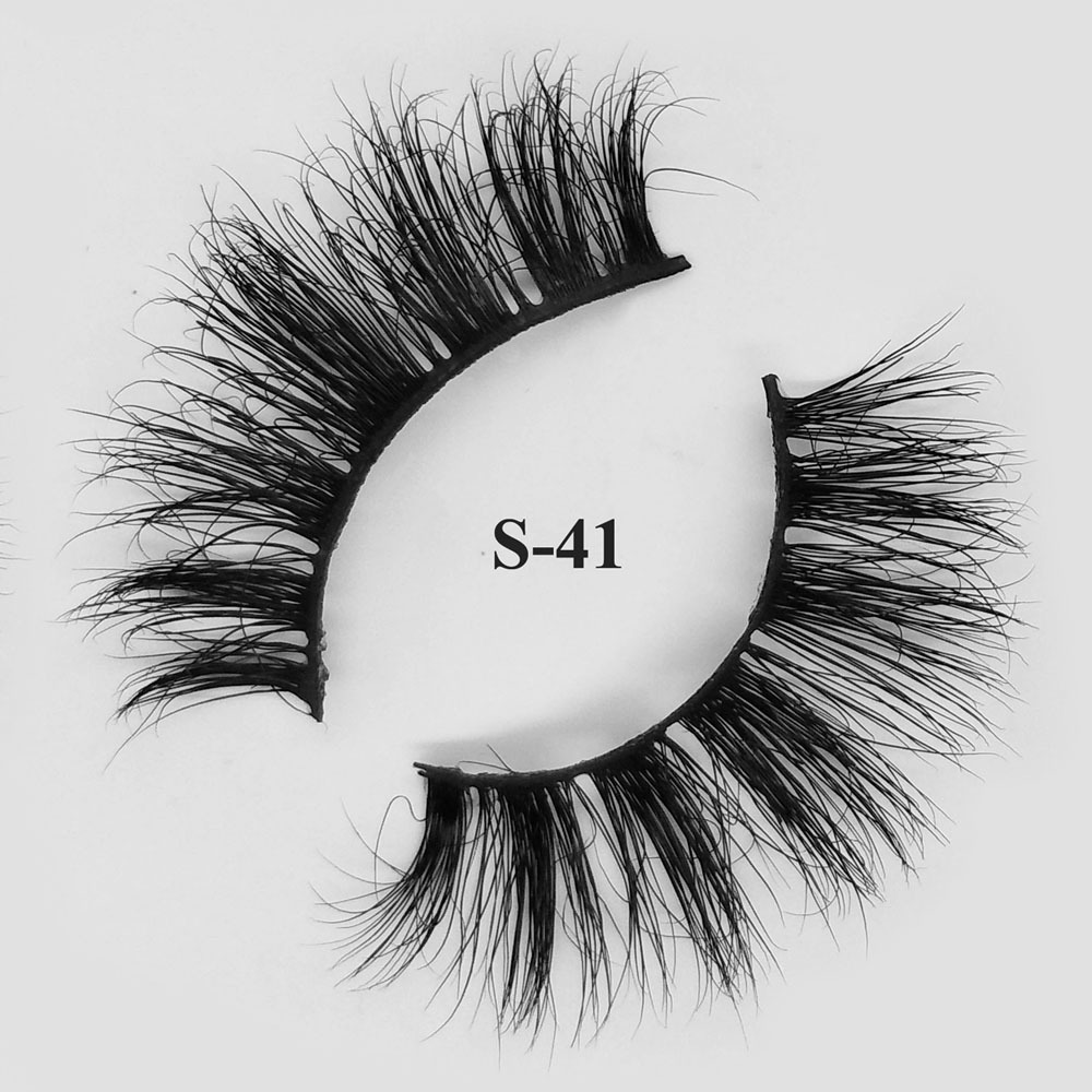 3d real fur average length eyelashes wholesale mink lashes S-41