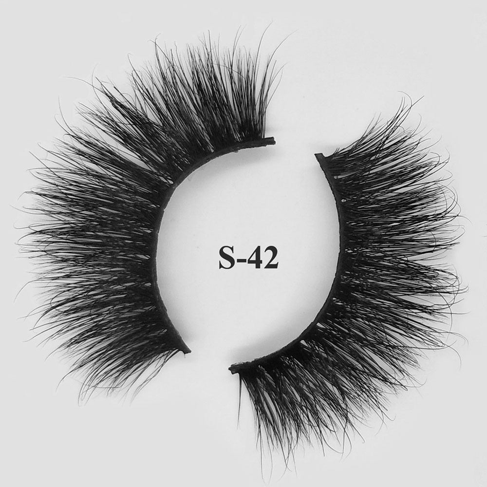 mink hair fake eyelashes best 3d mink lash vendors S-42