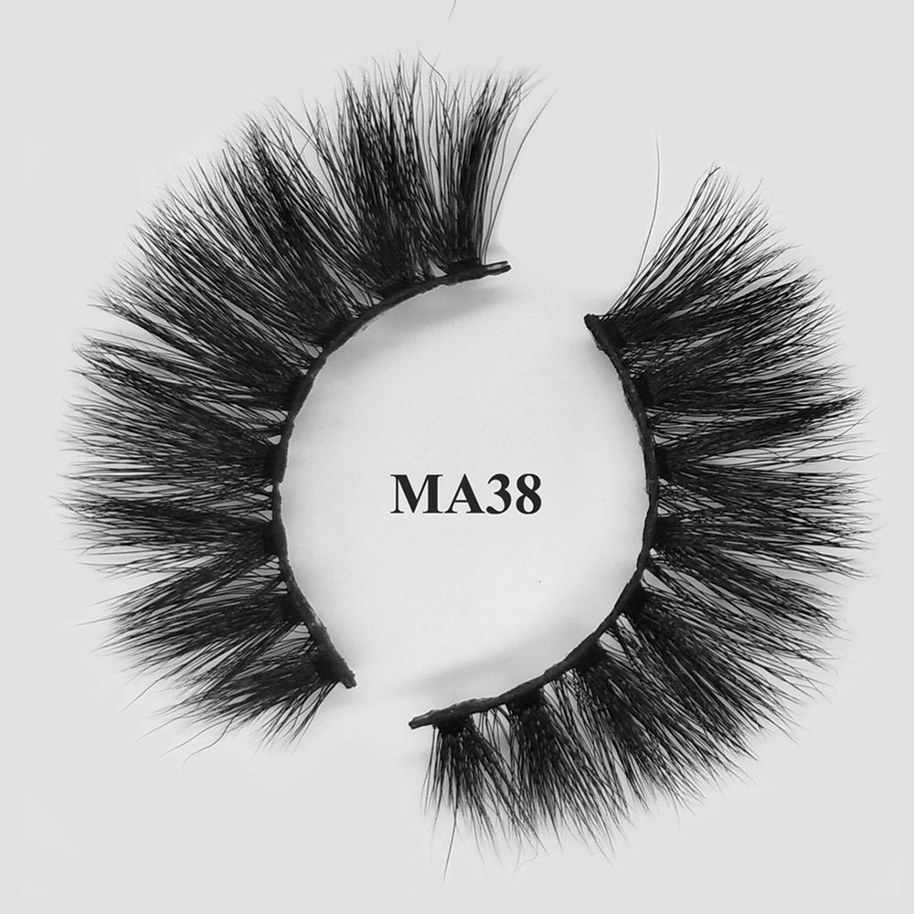 Private label eyelashes natural looking 3D faux mink lashes with OEM packaging MA38
