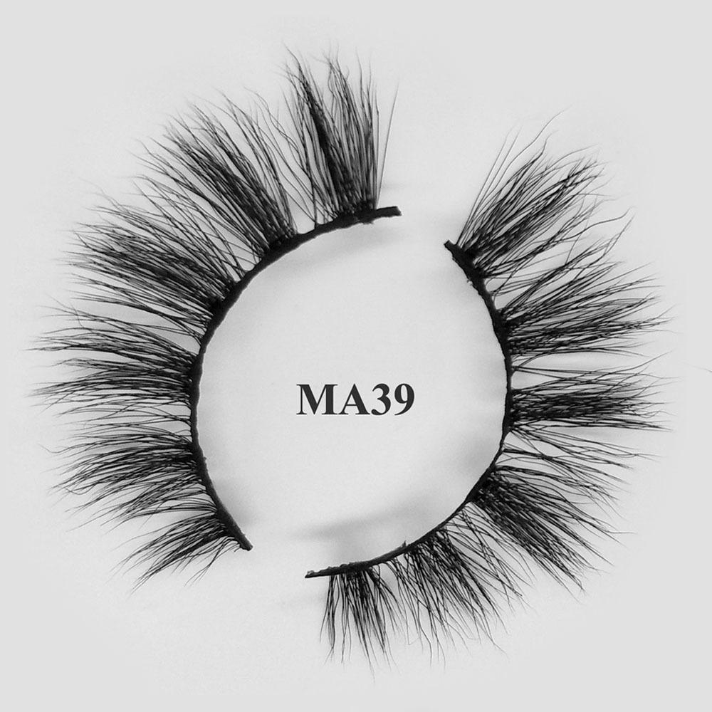 Hot sale cheap best fake eyelashes synthetic mink lashes wholesale MA39