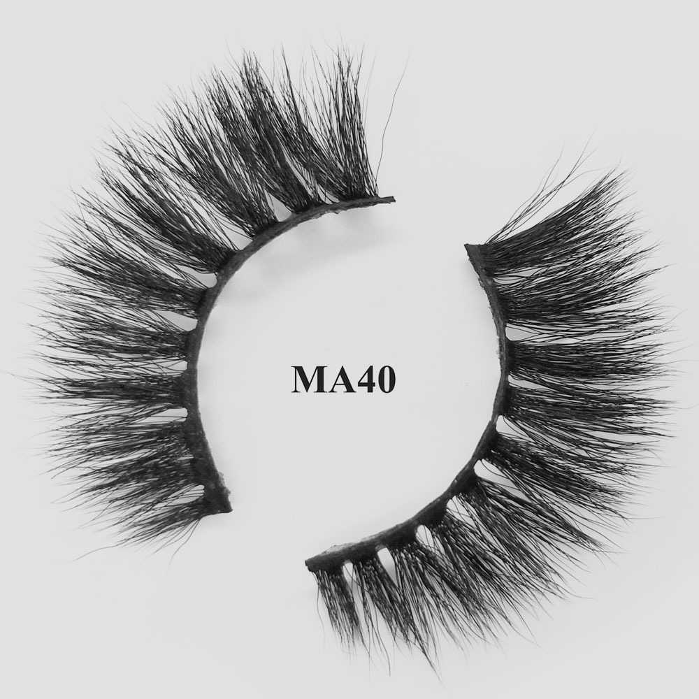 wholesale eye lashes cheap best Faux mink lashes with custom packaging box MA40