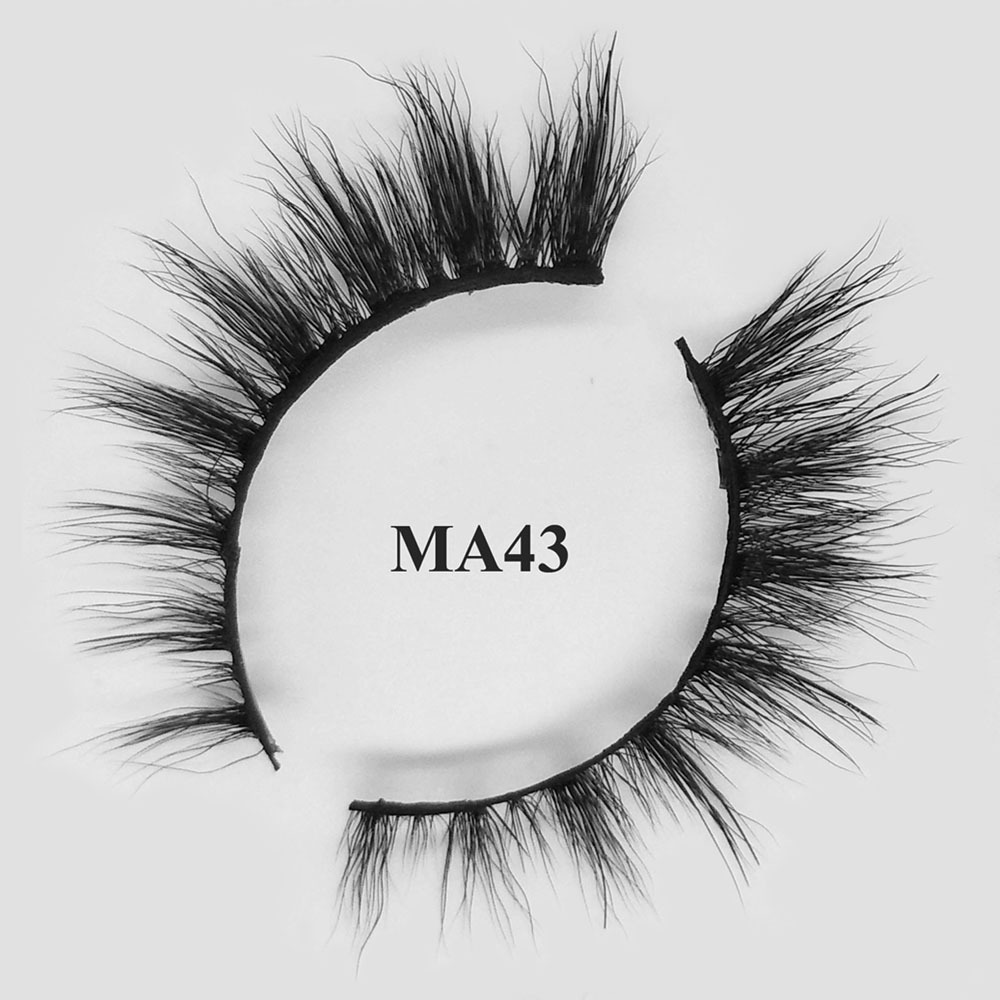 Custom eyelash packaging oem private label 3d faux mink lashes MA43