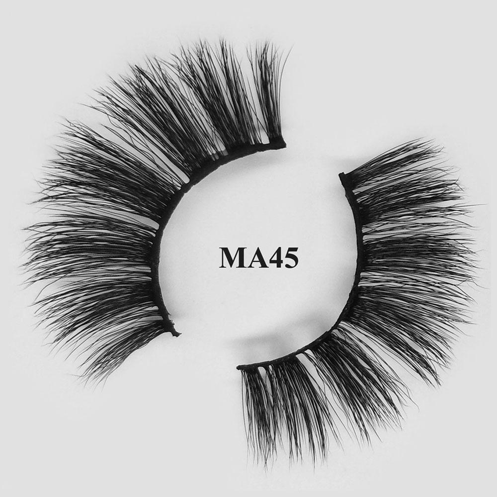Premium natural looking 3d eyelashes Faux mink lashes wholesale MA45