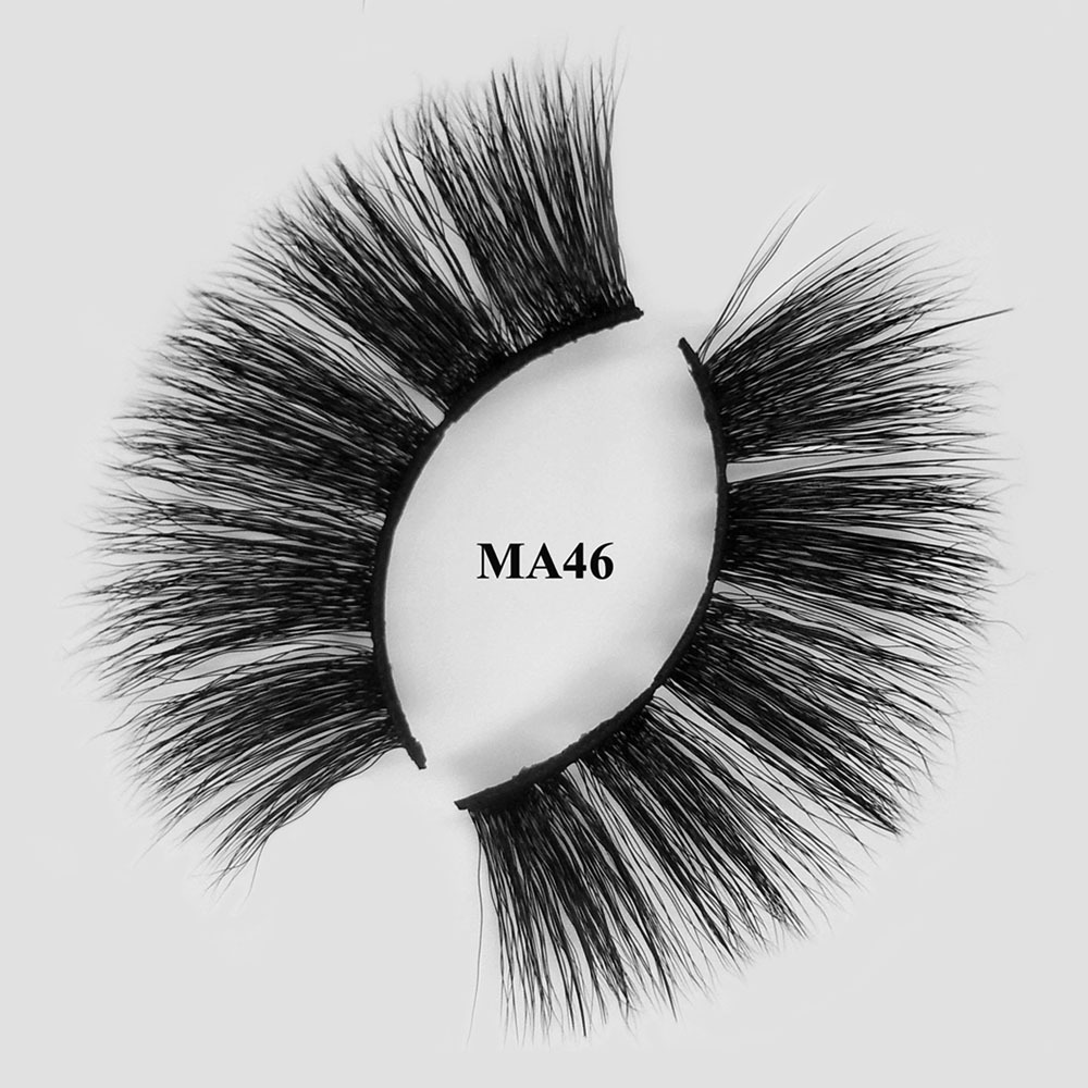 Private label 3d faux mink lashes faux mink eyelashes vendor MA46