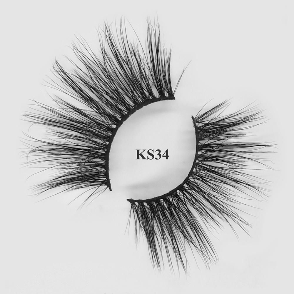 Create your own brand false eyelashes siberian volume 25mm mink lashes wholesale KS34