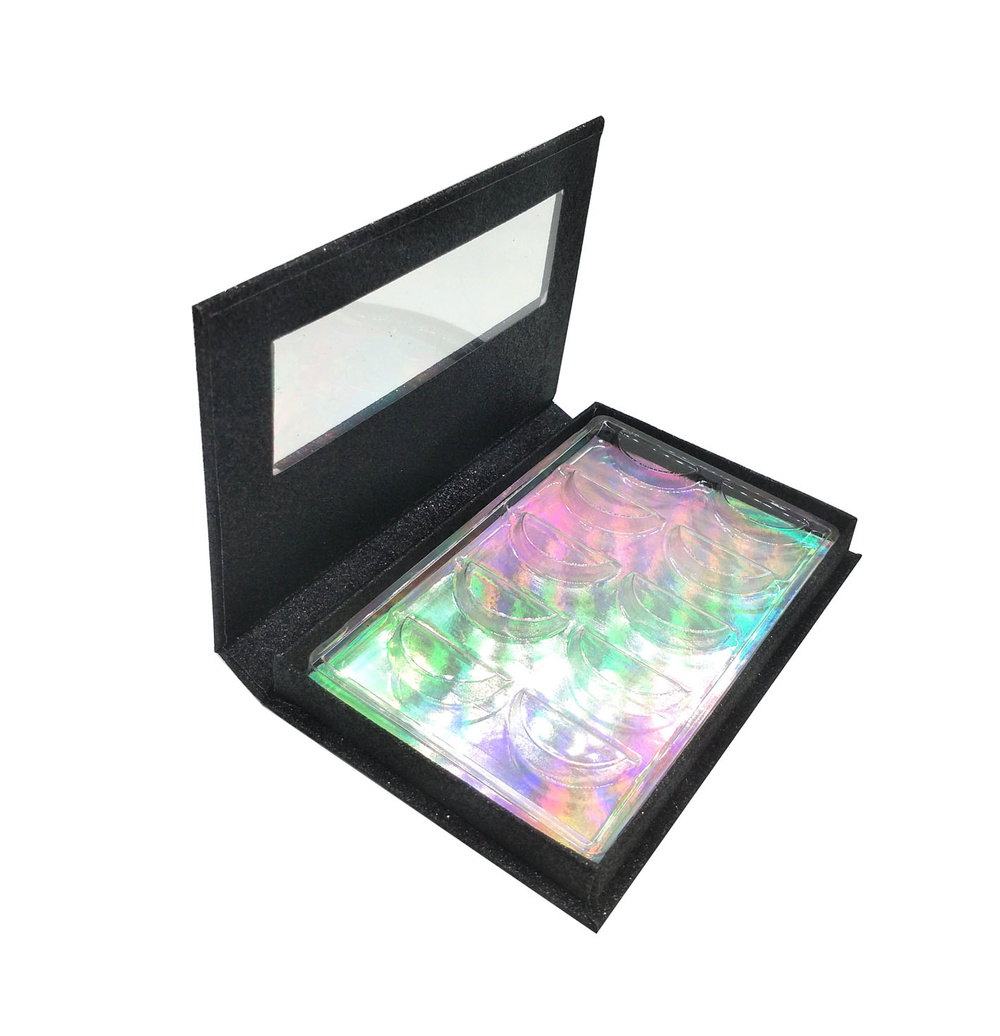 Black glitter 5 pairs lash case private label custom packaging eyelashes box