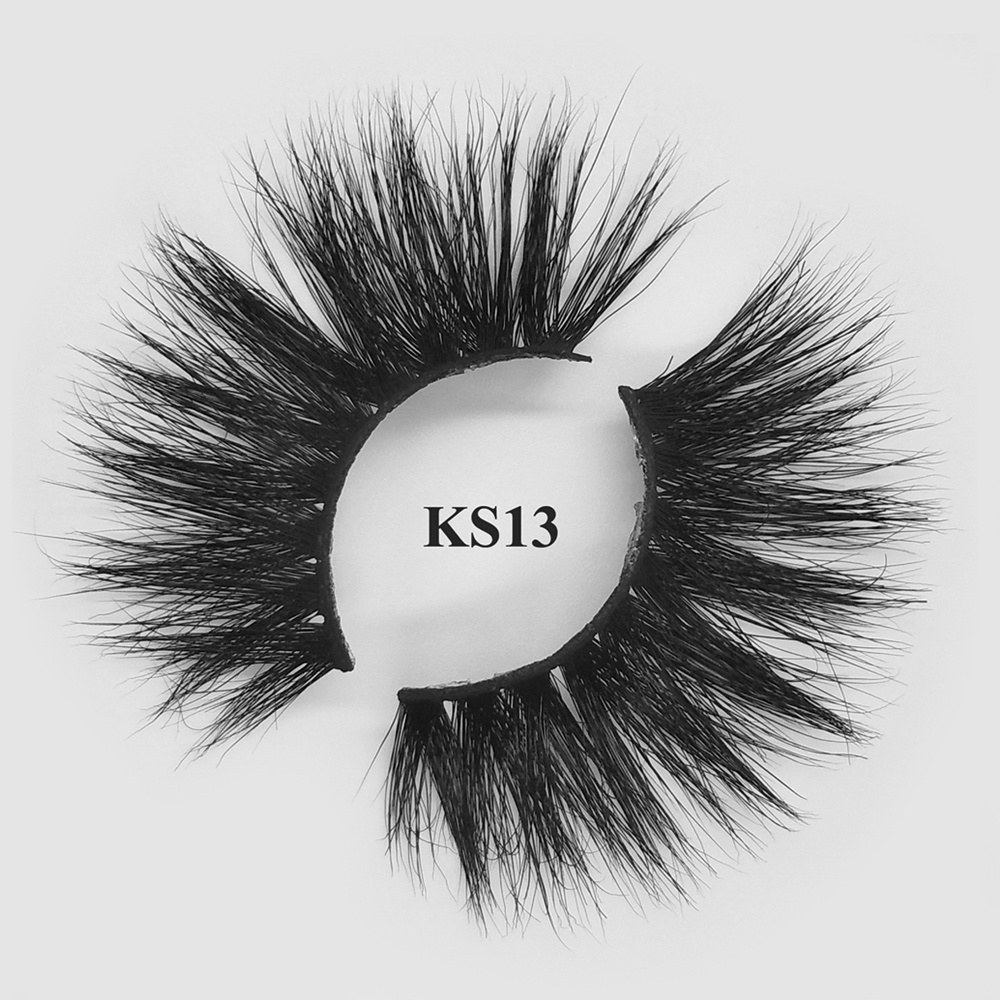Best eyelashes real mink fur 5d volume lashes with custom packaging box