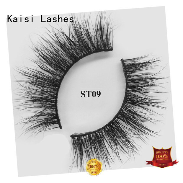 Kaisi favorable price mink strip lashes wholesale custom at sale