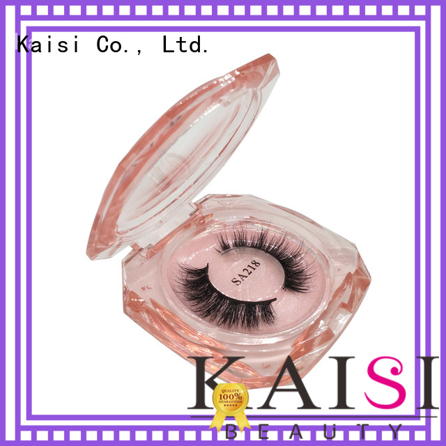 Kaisi wholesale custom eyelash packaging box top brand for lady