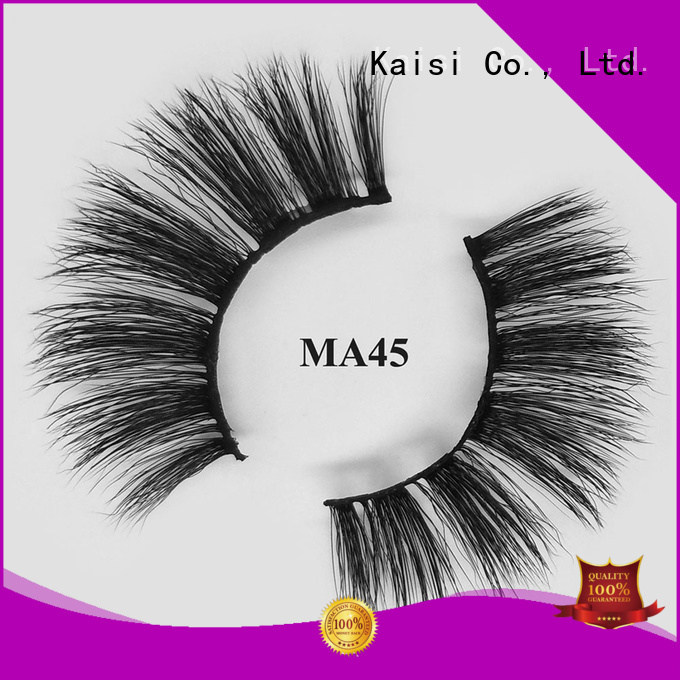 Kaisi natural fake eyelashes custom for makeup