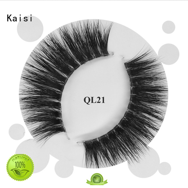 Kaisi best natural looking mink strip lashes high quality for wholesale