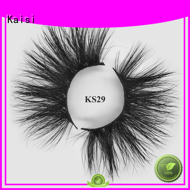 Kaisi light weight natural fake eyelashes factory direct supply fast delivery