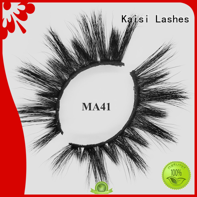 Kaisi natural false eyelashes wholesale for makeup