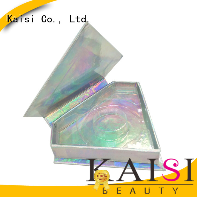 Kaisi oem&odm wholesale custom eyelash packaging box wholesale for lady