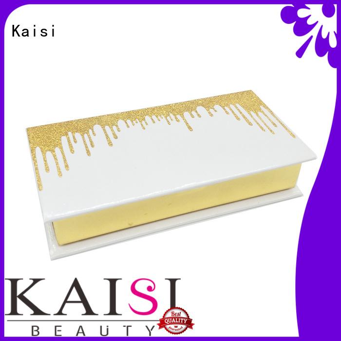 Kaisi custom eyelash packaging box top brand for girls